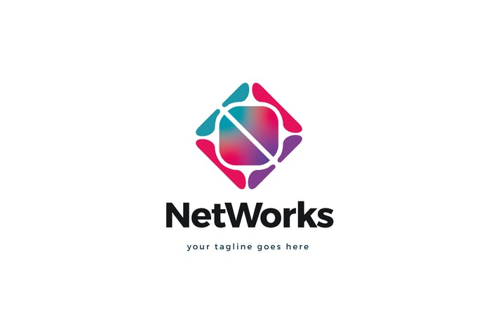 Thumbnail for Net Works Logo Template