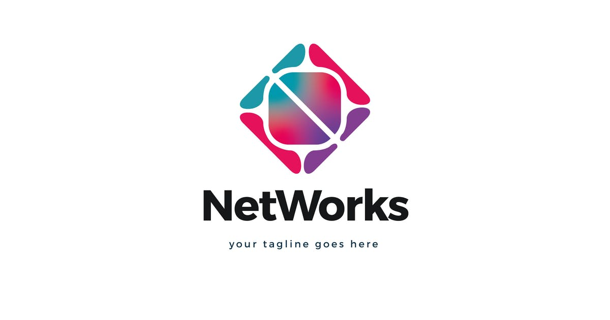Download Net Works Logo Template by Pixasquare