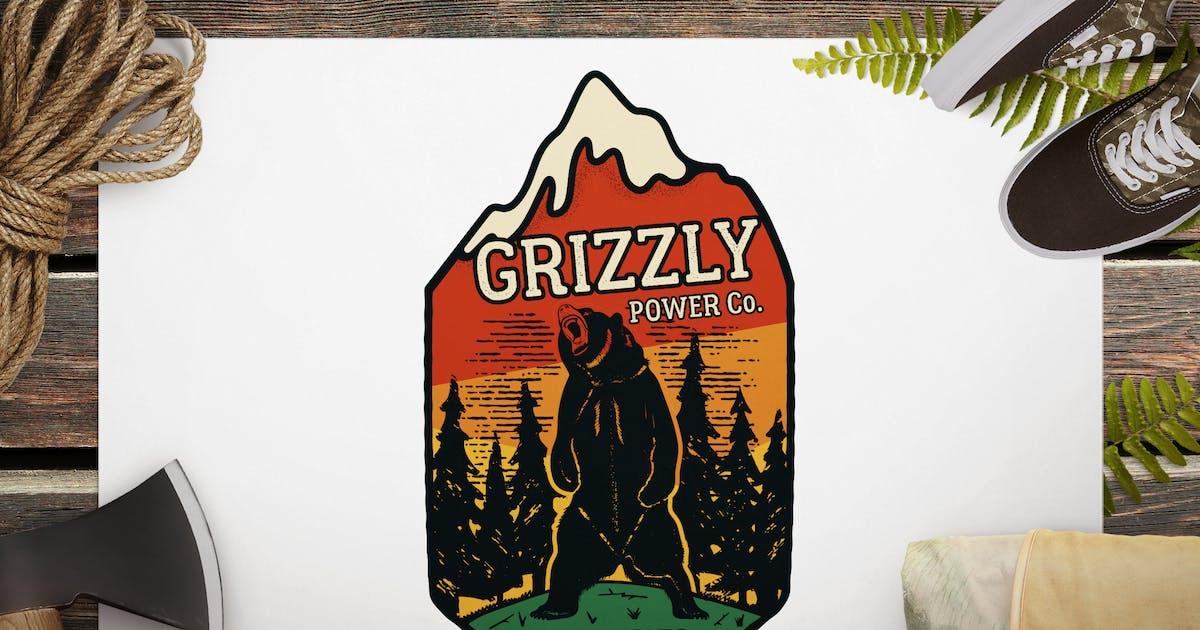 Download Wild Animal Retro Logo / Camping Bear Badge by JeksonJS