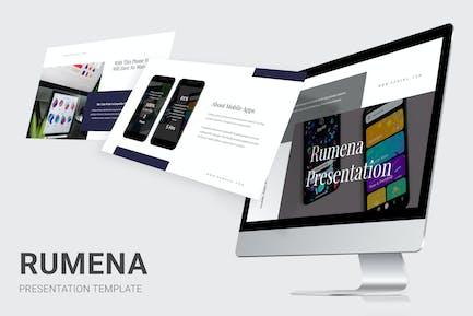 Rumena - Mobile Apps Showcase Powerpoint