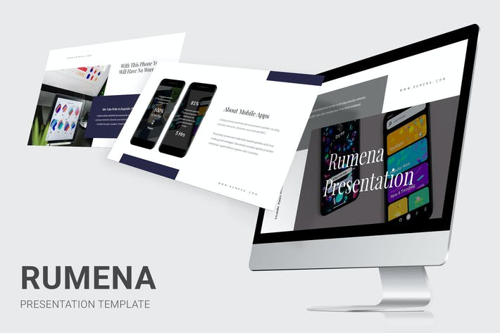Thumbnail for Rumena - Mobile Apps Showcase Powerpoint