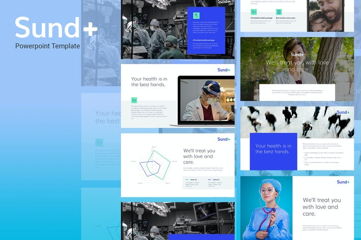 Thumbnail for Sund - Medical Theme Powerpoint Template