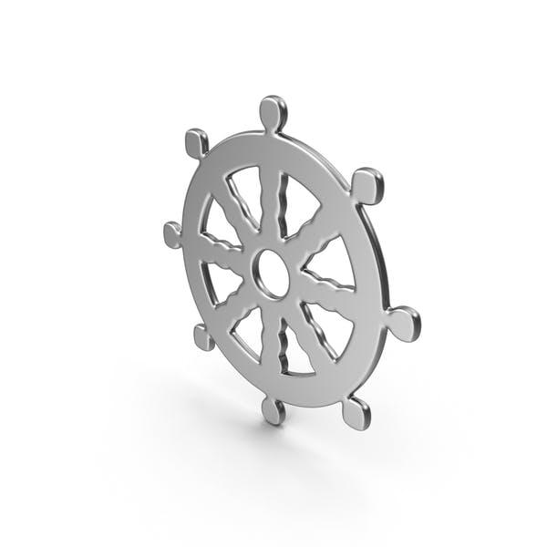 Buddhismus Rad des Dharma Symbol