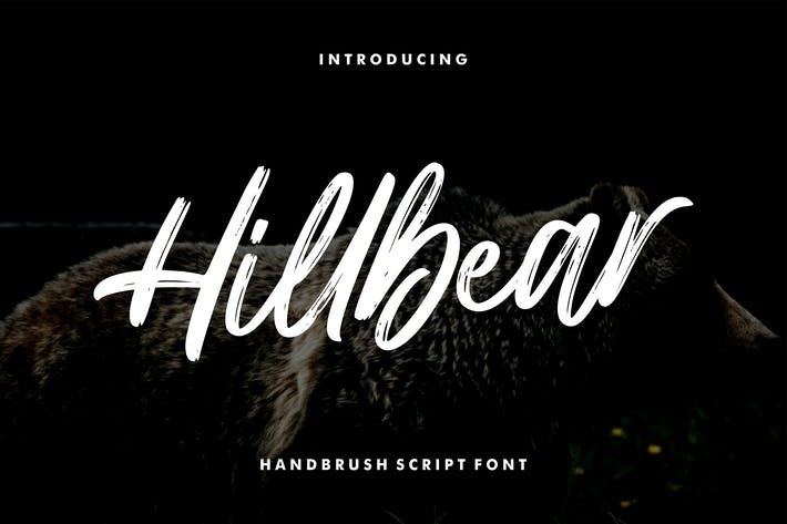 Thumbnail for Hillbear - Handbrush Script Font