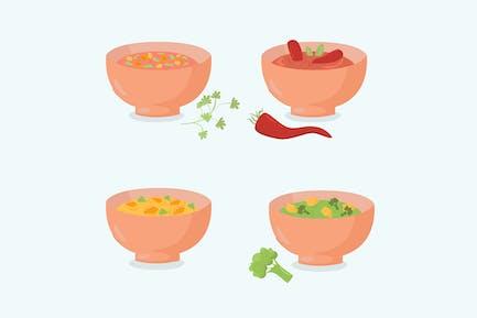 Schüsseln Suppen Sammlung