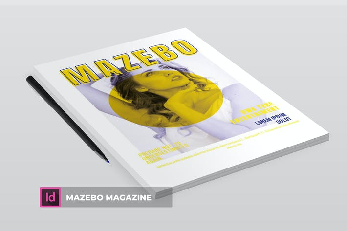Cover Image For Mazebo | Magazine Template