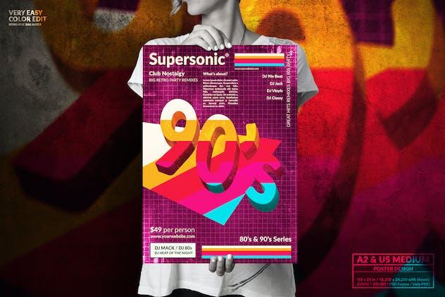 90's Music Event - Big Poster Design