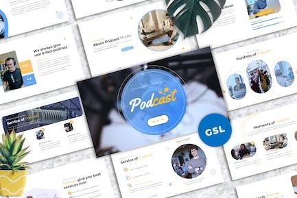 Podcast - Business Googleslide Template