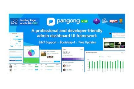 Pangong - Developer-friendly Bootstrap 4 Admin