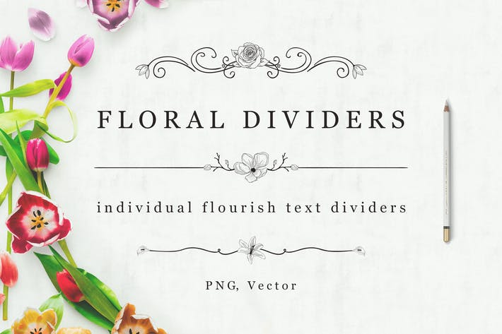 Cover Image For Flourish Text Dividers + Bonus