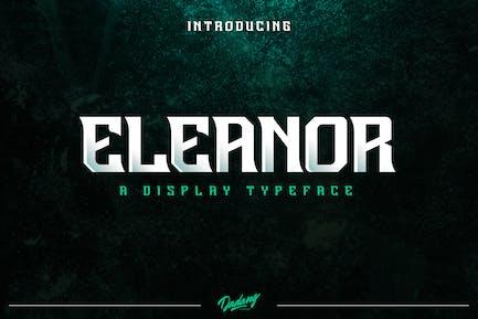 Шрифт отображения Eleanor