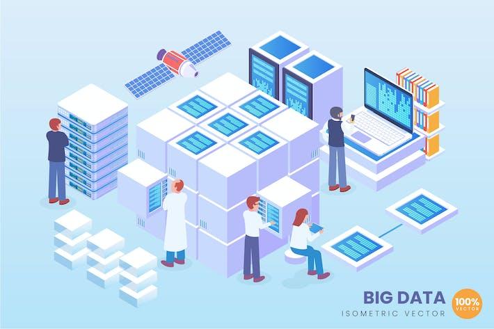 Thumbnail for Isometrische Big Data Vektor konzept Illustration