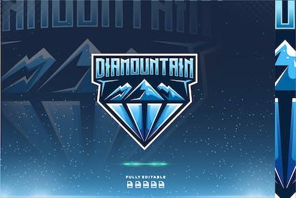 Diamond Mountain Dual Meaning Logo