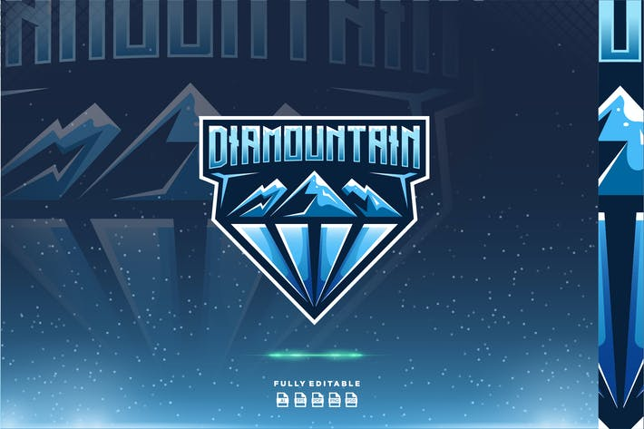 Thumbnail for Diamond Mountain Dual Meaning Logo
