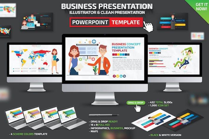 Thumbnail for Бизнес-Инфографика Powerpoint