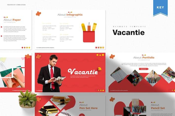 Vacantie | Шаблон Keynote