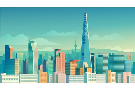 Seoul - Illustration Background