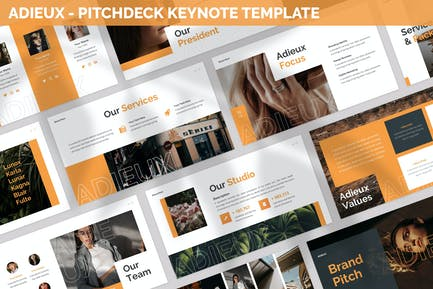 Adieux - Pitchdeck Keynote Template