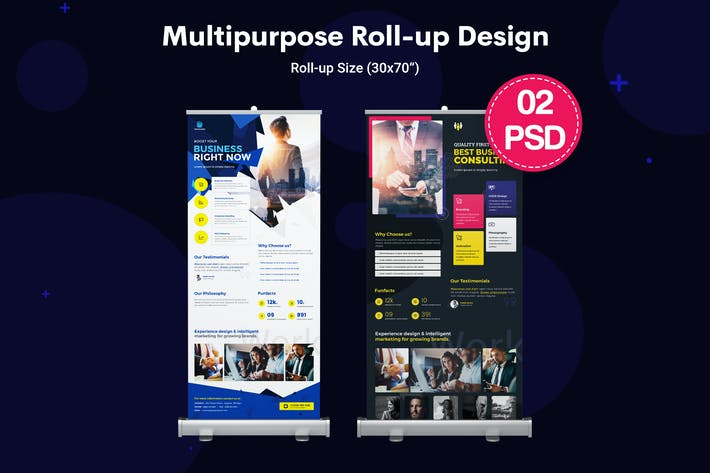 Thumbnail for Multipurpose, Business Roll-up Banners