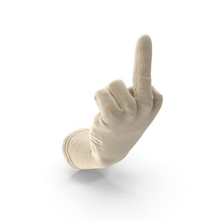 Guante de gamuza Dando el dedo