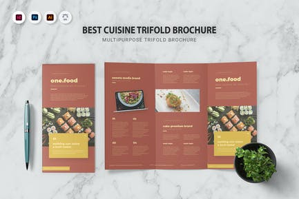 Best Cuisine Trifold Brochure