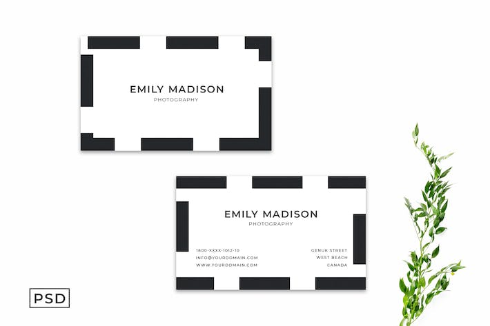 Cover Image For Simple Minimal Business Card Template Vol. 2