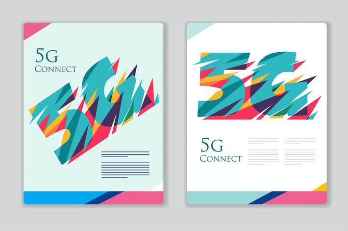 Thumbnail for 5G poster template colorful