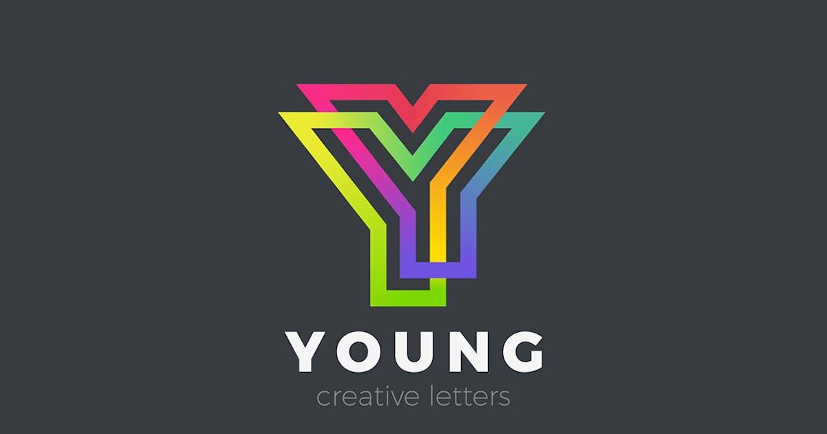 Letter Y Logo design Linear Infinite by Sentavio
