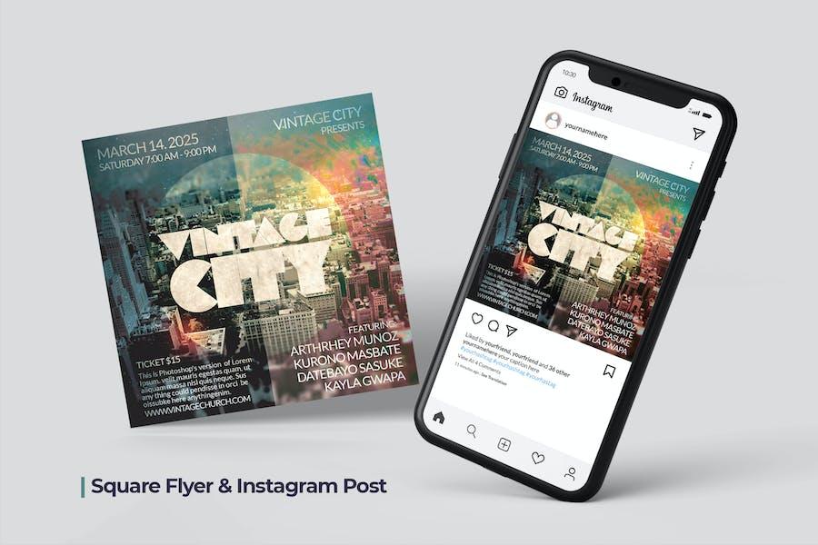 Vintage City Flyer & Social Post