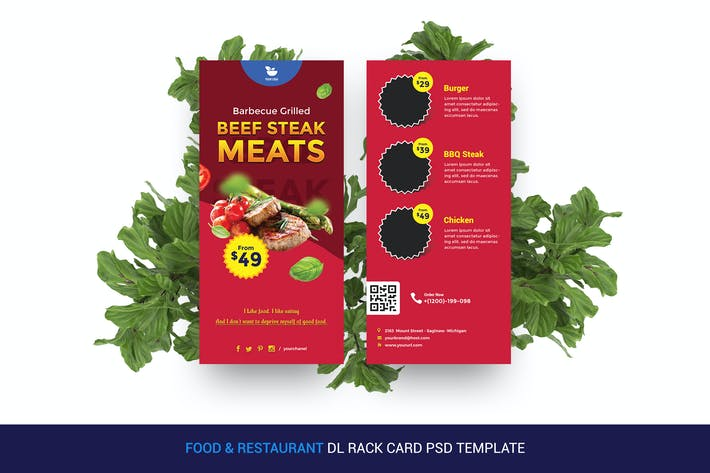 Thumbnail for Food & Restaurant DL Rack Card