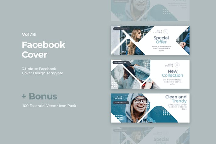 Thumbnail for Facebook Cover Vol.16