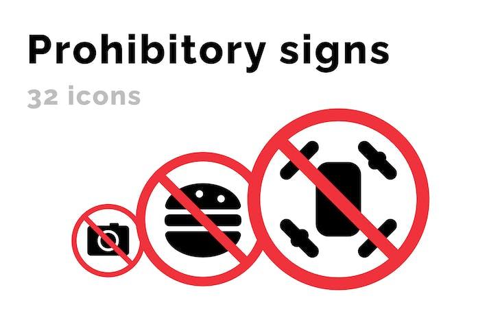 Verbotener Symbol