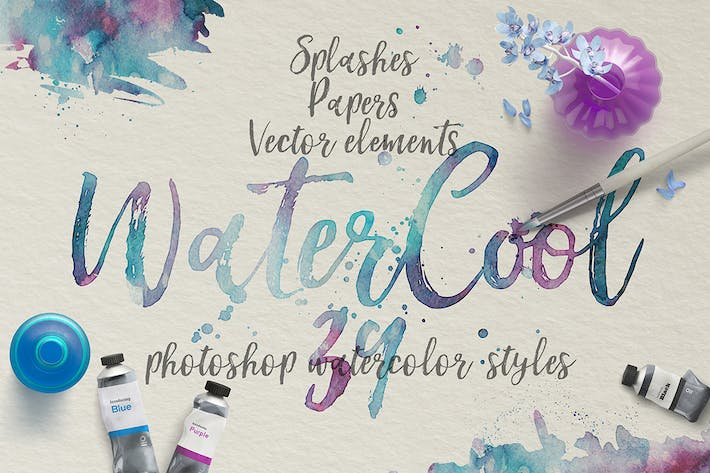 Cover Image For WaterCool Kit. Watercolor Styles