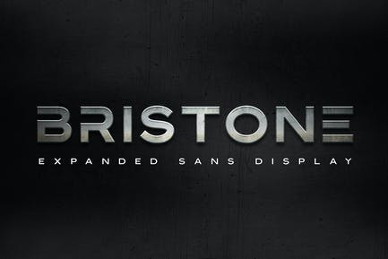 Bristone - Expanded Sans Family