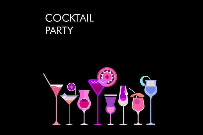 Thumbnail for Cocktail Party vector banner designs (large set)