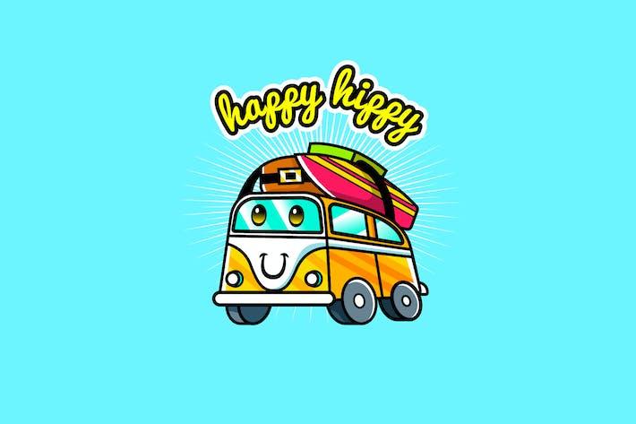 Thumbnail for hipster van - Mascot & Esport Logo