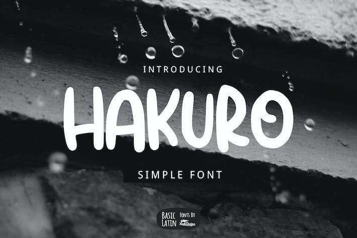 Thumbnail for Fuente de marcador Hakuro