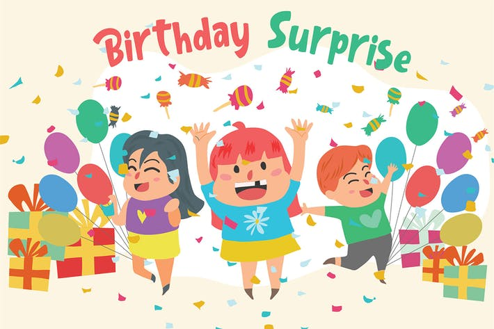 Thumbnail for Birthday Surprise - Vector Illustration