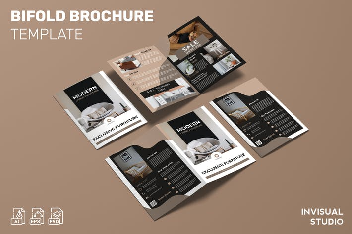 Thumbnail for Exclusive Furniture - Bifold Brochure Template