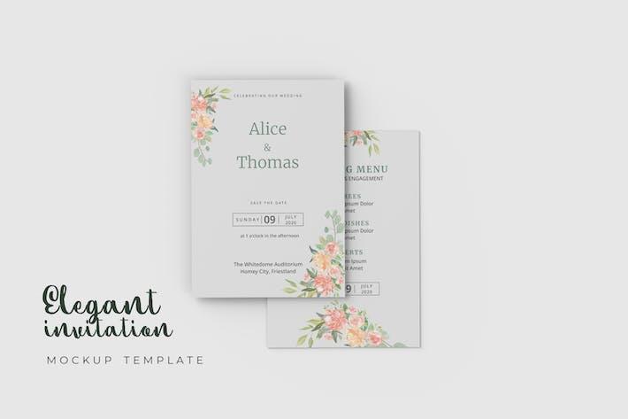 Elegant Wedding Invitation - Mockup Template