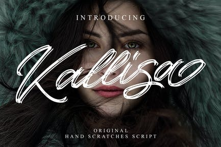 Kallisa - Handrawn Brush Font