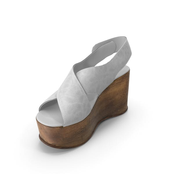 Women's Shoes Wood White