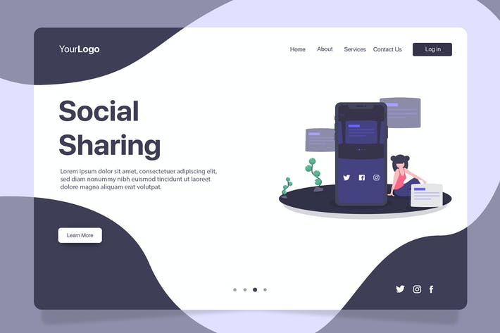 Thumbnail for Social Sharing - Banner & Landing Page
