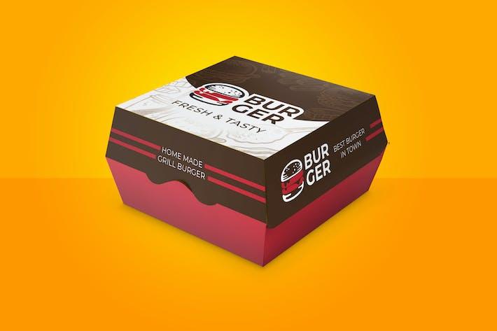 Burger Box Container Karton Design mit Dieline
