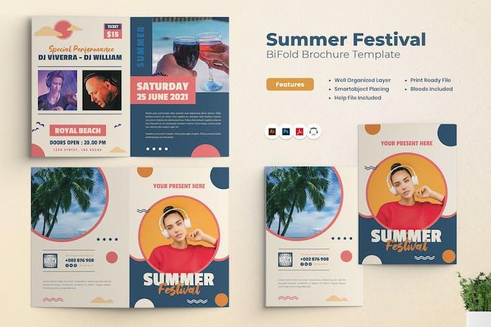 Thumbnail for Bifold Broschüre zur Sommerfestivalparty