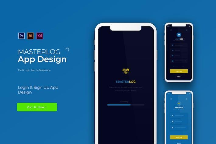 Thumbnail for MasterLog | App Design Template