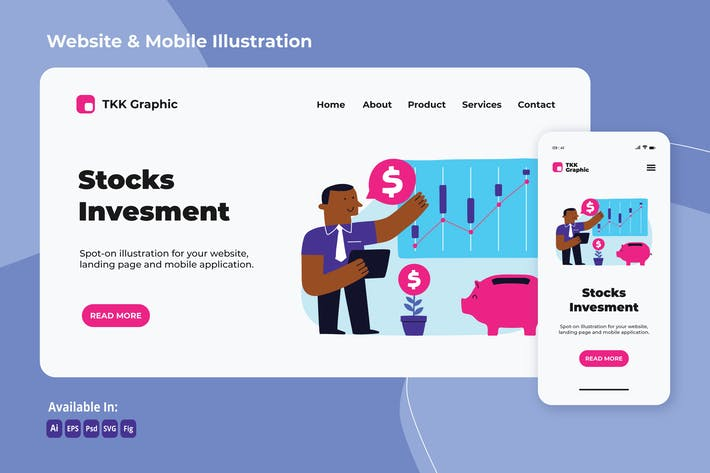 Stock investment web and mobile
