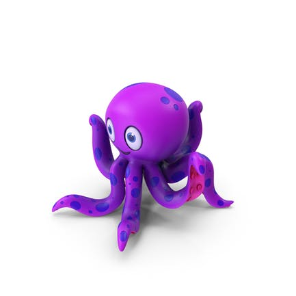 Cartoon Octopus Purple
