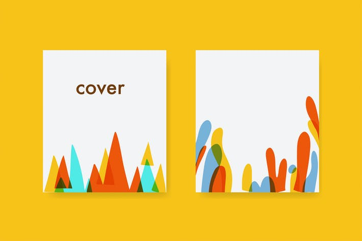 Thumbnail for Blank paper colorful template.