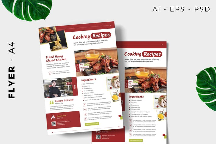 Thumbnail for Cooking Recipe Flyer Design